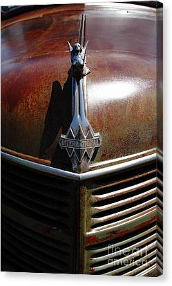 Rusty Old 1935 International Truck Hood Ornament. 7d15503 Canvas Print by Wingsdomain Art and Photography