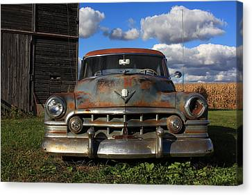 Rusty Old Cadillac Canvas Print by Lyle Hatch