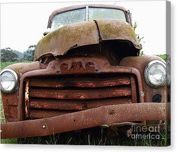 Old American Truck Canvas Print - Rusty Old Gmc Truck . 7d8396 by Wingsdomain Art and Photography