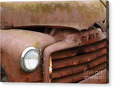 Rusty Old Gmc Truck . 7d8403 Canvas Print by Wingsdomain Art and Photography