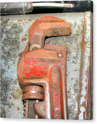 Rusty Pipe Wrench Canvas Print by Ester  Rogers