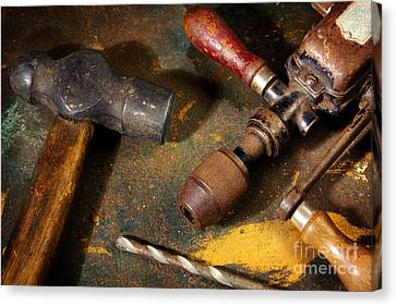 Rusty Tools Canvas Print by Carlos Caetano