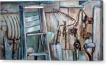 Rusty Tools Canvas Print by Jean Groberg