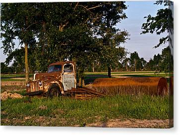 Rusty Truck And Tank Canvas Print by Douglas Barnett