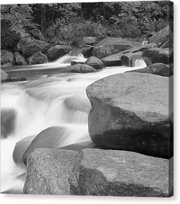 Rutheford County,north Carolina, Rocky Broad River Canvas Print by Holden Richards