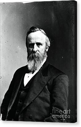 Rutherford B. Hayes, 19th American Canvas Print by Photo Researchers