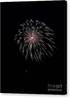 Canvas Print featuring the photograph Rvr Fireworks 10 by Mark Dodd