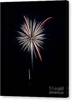 Canvas Print featuring the photograph Rvr Fireworks 11 by Mark Dodd