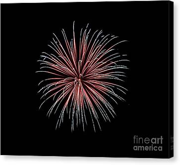Canvas Print featuring the photograph Rvr Fireworks 12 by Mark Dodd