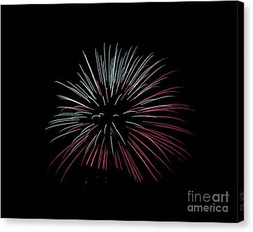 Canvas Print featuring the photograph Rvr Fireworks 15 by Mark Dodd