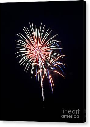 Canvas Print featuring the photograph Rvr Fireworks 16 by Mark Dodd