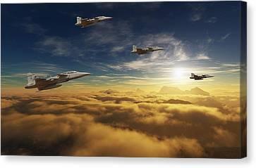 Sa Air Force Iron Eagles Canvas Print by Nicole Champion