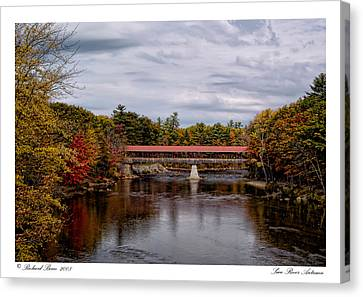 Canvas Print featuring the photograph Saco River Autumn by Richard Bean