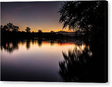 Canvas Print featuring the photograph Sacramento River Sunset by Randy Wood