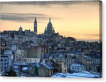 Sacre Coeur, Paris Canvas Print by Richard Fairless