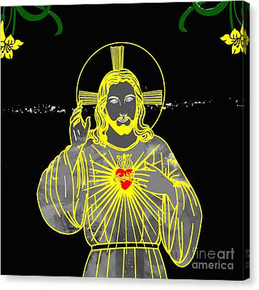 Sacred Heart Canvas Print by Al Bourassa