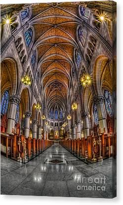 Sacred Heart Basilica Canvas Print by Susan Candelario