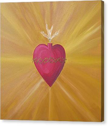 Sacred Heart Canvas Print by Jeff Montgomery