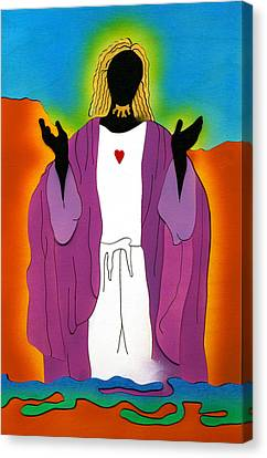 Sacred Heart Of Jesus Canvas Print by Fred Gardner