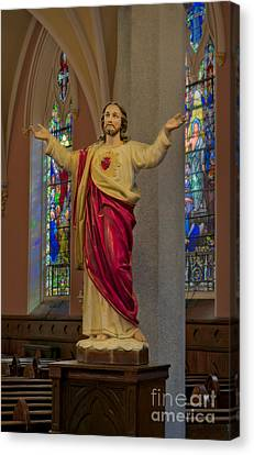 Sacred Heart Of Jesus Canvas Print by Susan Candelario
