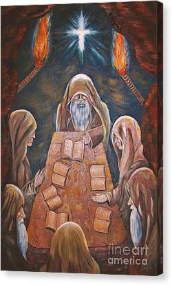 Sacred Tradition Canvas Print by Judy Via-Wolff