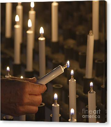 Sacrificial Candles 3 Canvas Print by Heiko Koehrer-Wagner