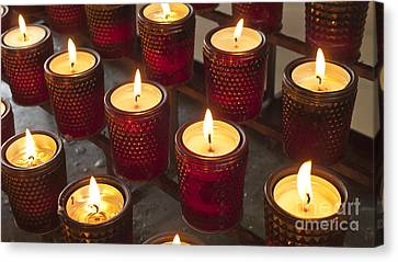 Sacrificial Candles Canvas Print by Heiko Koehrer-Wagner