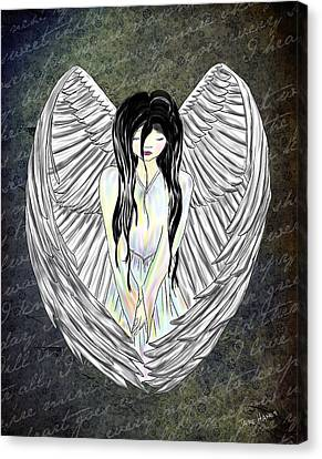 Sad Angel Canvas Print