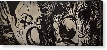 Sad Clowns Canvas Print by Travis Burns