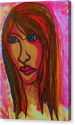 Concern Canvas Print - Sad Reflections by Gerri Rowan