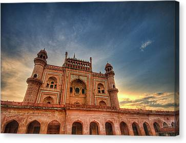 Safdarjung's Tomb Canvas Print by Sudiproyphotography