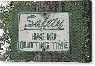 Safety Limitation Canvas Print