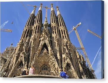 Sagrada Familia - Impressive Church From Gaudi In Barcelona Canvas Print by Matthias Hauser