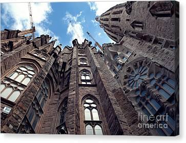 Sagrada Familia In Barcelona Canvas Print by Design Remix