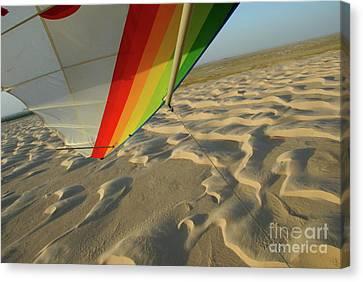 Sahara Desert Seen From Hang Glider Canvas Print