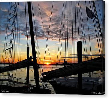 Sail At Sunset Canvas Print
