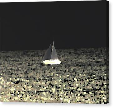 Sail Away Canvas Print by Elizabeth  Doran