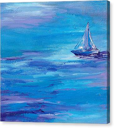 Sail Away Canvas Print by Sandy Tracey