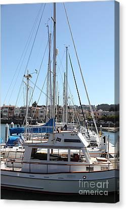 Sail Boats At The San Francisco Marina - 5d18189 Canvas Print by Wingsdomain Art and Photography