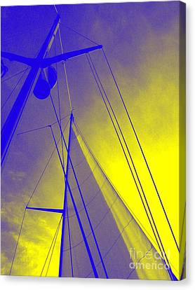 Sail Into Yellow Canvas Print