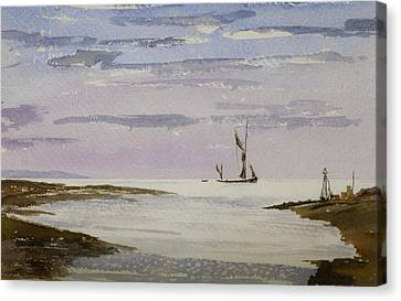 Canvas Print featuring the painting Sail On By by Rob Hemphill
