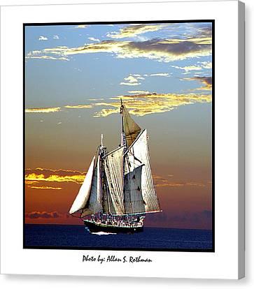 Sailbat At Dusk Canvas Print