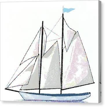 Sailboat  Canvas Print by Anne Kitzman
