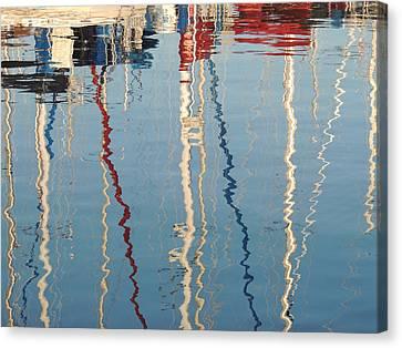 Sailboat Mast Reflection II Canvas Print