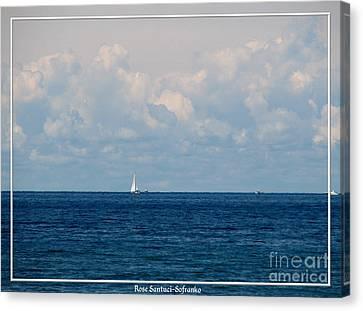 Sailboat On Lake Ontario Canvas Print by Rose Santuci-Sofranko