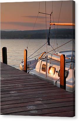 Sailboat Sunrise II Canvas Print by Steven Ainsworth