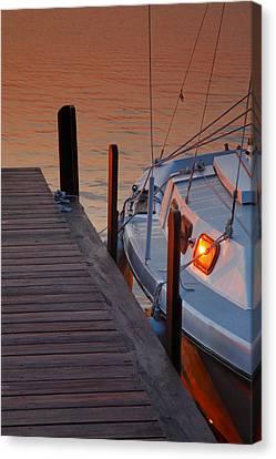 Sailboat Sunrise Canvas Print by Steven Ainsworth