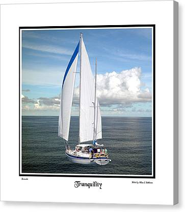 Sailboat Tranquility Canvas Print