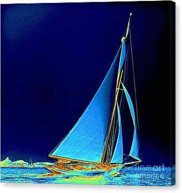 Sailboat Wayward 1890 Canvas Print by Padre Art