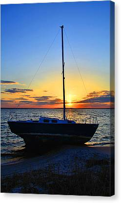 Sailboats And Sunsets Canvas Print